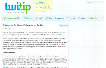 http://www.twitip.com/7-ways-to-be-worth-following-on-twitter/