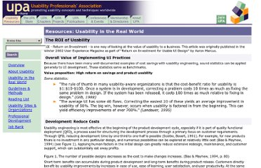 http://www.upassoc.org/usability_resources/usability_in_the_real_world/roi_of_usability.html