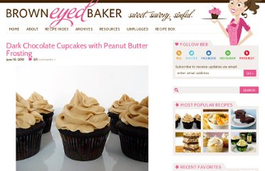http://www.browneyedbaker.com/2010/06/10/dark-chocolate-cupcakes-with-peanut-butter-frosting/#