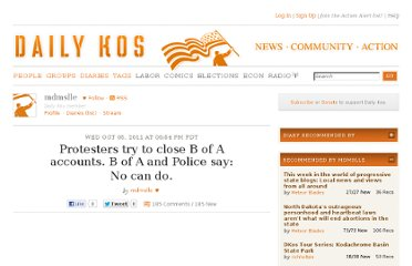 http://www.dailykos.com/story/2011/10/05/1023253/-Protesters-try-to-close-B-of-A-accounts-B-of-A-and-Police-say-No-can-do