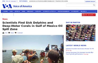 http://www.voanews.com/content/noaa-scientists-confirm-bp-oil-spill-harms-dolphins-and-deep-sea-corals---144670345/180453.html