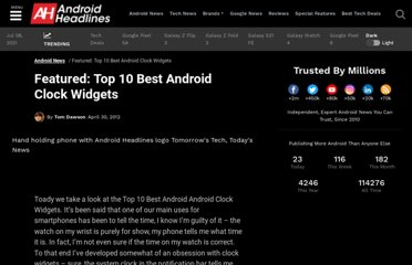 http://androidheadlines.com/2012/04/featured-top-10-best-android-clock-widgets.html