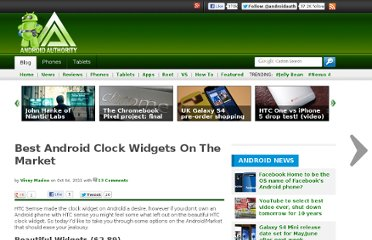 http://www.androidauthority.com/best-android-clock-widgets-on-the-market-26150/