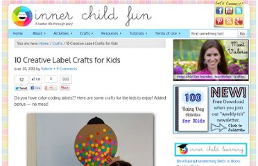 http://innerchildfun.com/2012/06/no-mess-color-coding-label-crafts-for-kids.html