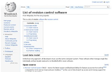 http://en.wikipedia.org/wiki/List_of_revision_control_software