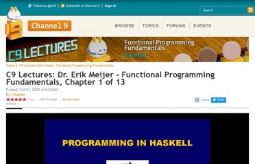 http://channel9.msdn.com/Series/C9-Lectures-Erik-Meijer-Functional-Programming-Fundamentals/Lecture-Series-Erik-Meijer-Functional-Programming-Fundamentals-Chapter-1