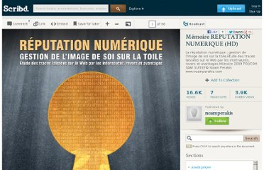 http://fr.scribd.com/doc/12636849/Memoire-REPUTATION-NUMERIQUE-HD