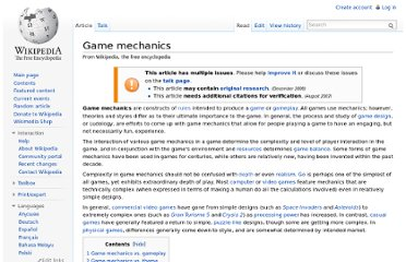 http://en.wikipedia.org/wiki/Game_mechanics