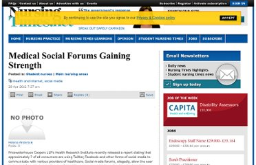 http://www.nursingtimes.net/medical-social-forums-gaining-strength/516.thread