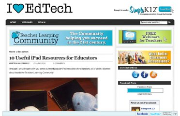 http://blog.simplek12.com/education/10-useful-ipad-resources/