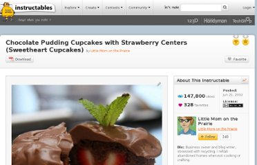 http://www.instructables.com/id/Chocolate-Pudding-Cupcakes-with-Strawberry-Centers/