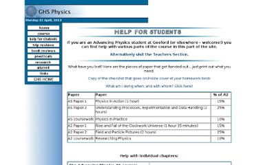 http://www.gosford-hill.oxon.sch.uk/physics/html/helpforstudents.html