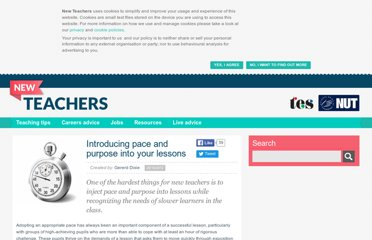 http://newteachers.tes.co.uk/news/introducing-pace-and-purpose-your-lessons/45867