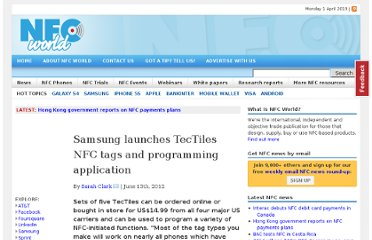 http://www.nfcworld.com/2012/06/13/316188/samsung-launches-tectiles-nfc-tags-and-programming-application/