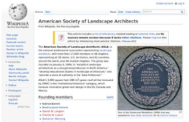 http://en.wikipedia.org/wiki/American_Society_of_Landscape_Architects