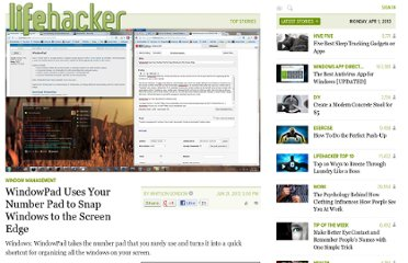 http://lifehacker.com/5920354/windowpad-uses-your-number-pad-to-snap-windows-to-the-screen-edge