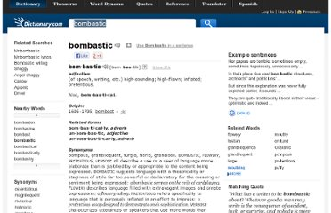 http://dictionary.reference.com/browse/bombastic