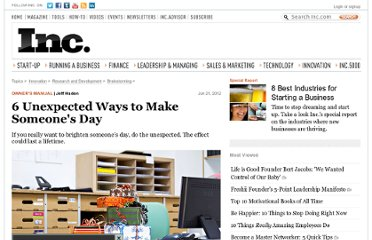 http://www.inc.com/jeff-haden/6-unexpected-ways-to-make-someones-day.html