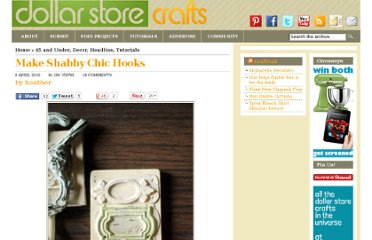 http://dollarstorecrafts.com/2010/04/make-shabby-chic-hooks/