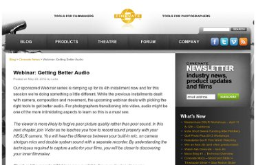 http://www.cinevate.com/blog/webinar-getting-better-audio/