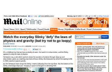 http://www.dailymail.co.uk/sciencetech/article-2163088/Watch-everyday-Slinky-defy-laws-physics-gravity-try-loopy.html