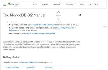 http://docs.mongodb.org/manual/