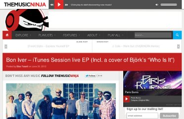 http://www.themusicninja.com/bon-iver-itunes-session-live-ep-incl-a-cover-of-bjorks-who-is-it/