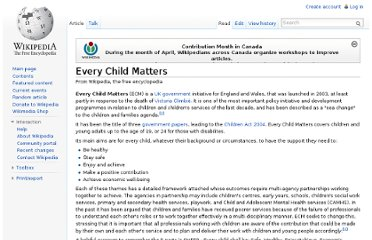 http://en.wikipedia.org/wiki/Every_Child_Matters