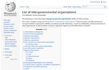 http://en.wikipedia.org/wiki/List_of_intergovernmental_organizations