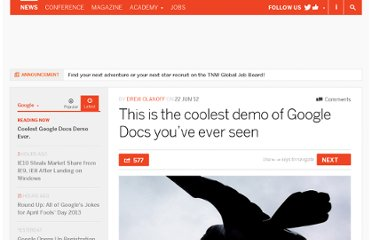http://thenextweb.com/google/2012/06/22/this-is-the-coolest-demo-of-google-docs-youve-ever-seen/