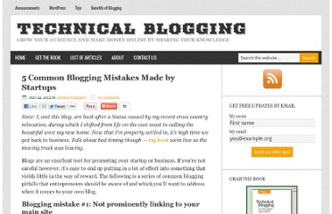 http://technicalblogging.com/5-common-blogging-mistakes-made-by-startups/