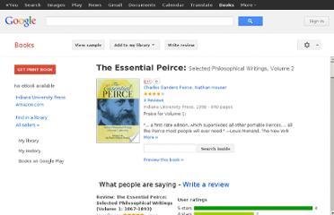http://books.google.com.pk/books/about/The_Essential_Peirce.html?id=grYAoECfZtIC#v=onepage&q=peirce%20explained%20explanation&f=false