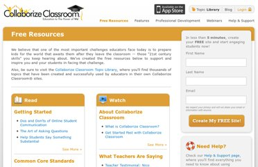 http://www.collaborizeclassroom.com/resources
