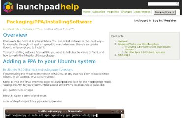 https://help.launchpad.net/Packaging/PPA/InstallingSoftware