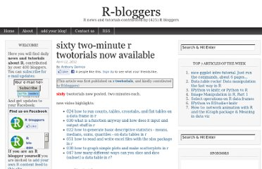 http://www.r-bloggers.com/sixty-two-minute-r-twotorials-now-available/