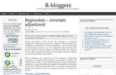 http://www.r-bloggers.com/regression-covariate-adjustment/