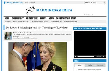 http://madmikesamerica.com/2010/06/dr-laura-schlessinger-and-the-teachings-of-leviticus/