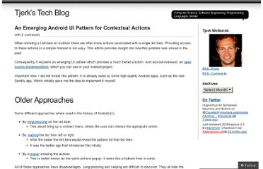 http://tjerktech.wordpress.com/2012/06/23/an-emerging-android-ui-pattern-for-contextual-actions/