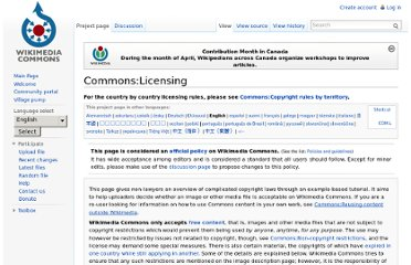 http://commons.wikimedia.org/wiki/Commons:Licensing#Works_by_the_US_Government