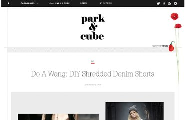 http://www.parkandcube.com/diy-shredded-denim-shorts/