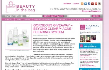 http://www.beautyinthebag.com/wordpress/gorgeous-giveaway-beyond-clear%e2%84%a2-acne-clearing-system/