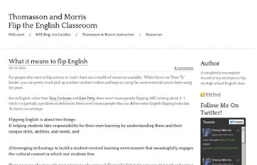 http://www.morrisflipsenglish.com/1/post/2012/06/what-it-means-to-flip-english.html