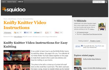 http://www.squidoo.com/knifty-knitter-video-instructions
