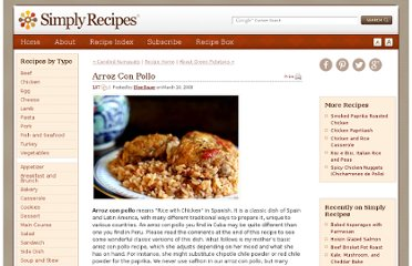 http://www.simplyrecipes.com/recipes/arroz_con_pollo/
