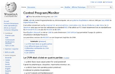 http://fr.wikipedia.org/wiki/Control_Program/Monitor