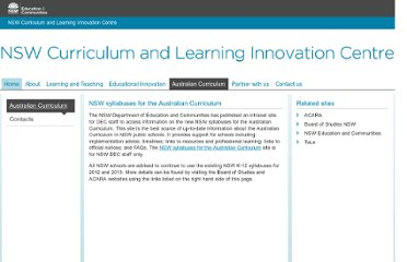 http://clic.det.nsw.edu.au/aust_curriculum/index.htm