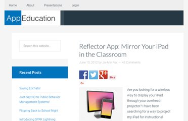 http://www.appeducation.com/2012/06/10/reflection-app-mirror-you-ipad-in-the-classroom/