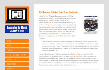 http://learninginhand.com/blog/7th-graders-publish-their-own-textbook.html