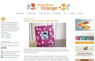 http://howaboutorange.blogspot.com/2011/08/picture-frame-project-with-inkodye.html