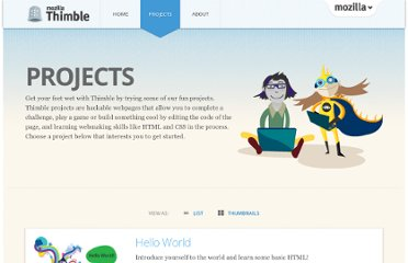 https://thimble.webmaker.org/en-US/projects